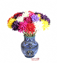 Moroccan Vintage Ceramic Vase Decorative from Safi Morocco in Gorgeous Colours Handmade Hand Painted